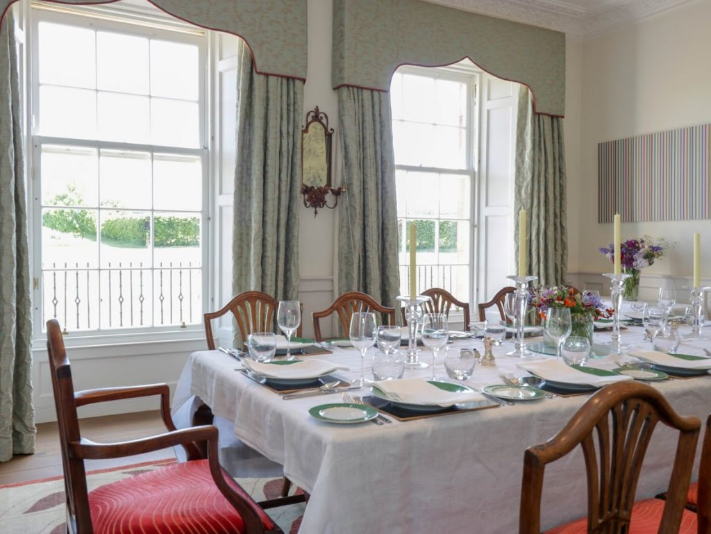 Tanderlane in East Lothian Dining room